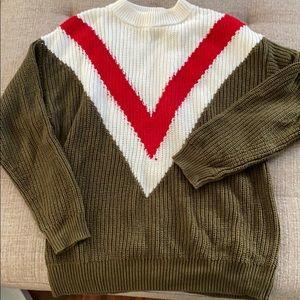 Mango Sweaters - V contrast sweater